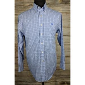 Brooks Brothers Blue Plaid Regular No Iron Shirt